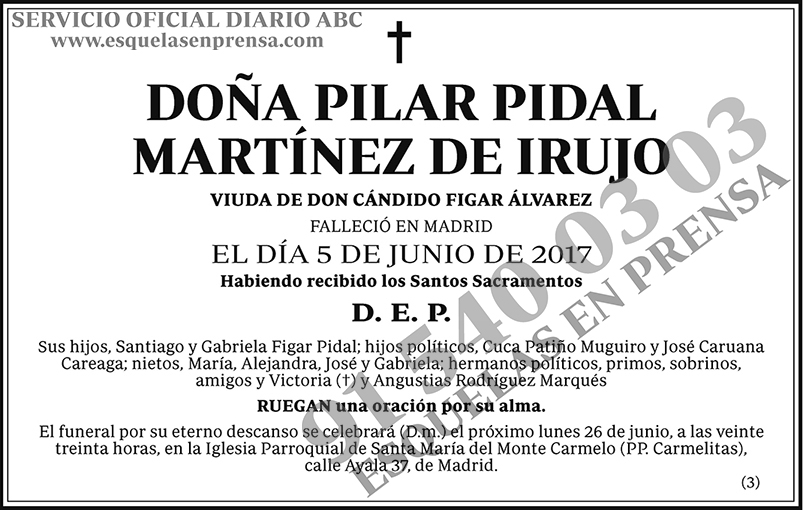 Pilar Pidal Martínez de Irujo